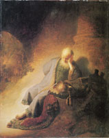 Rembrandt Jeremiah Lamenting the Destruction of Jerusalem