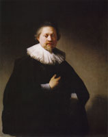 Rembrandt Portrait of a Man, probably Thomas Brouaert