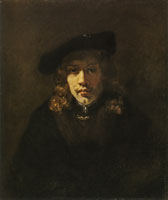 Style of Rembrandt Man in a Beret