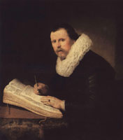 Rembrandt Portrait of a Man at His Writing Desk
