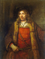Rembrandt Man in a Fur-lined Coat