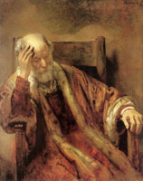 Rembrandt An Old Man in an Armchair