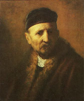 Rembrandt Bust of an old man in a cap