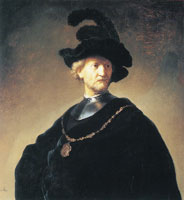 Rembrandt Old Man with Gorget and Cap