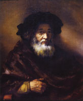 Follower of Rembrandt Portrait of an Old Man in a Cape