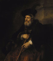 Rembrandt Old man with a stick