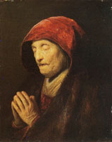 Rembrandt Old Woman at Prayer