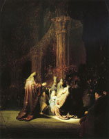 Rembrandt The presentation of Jesus in the temple