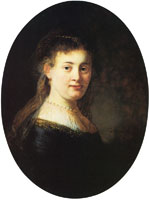 Rembrandt Bust of a Young Woman