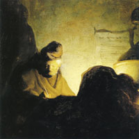 Rembrandt A Scholar by Candlelight