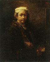 Rembrandt Self-portrait at the easel