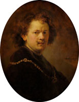 Rembrandt Self-portrait with gold chain