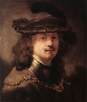 Rembrandt Self-portrait transformed into a 'tronie'