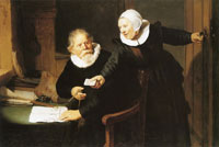 Rembrandt - Portrait of the Shipbuilder Jan Rijcksen and his Wife