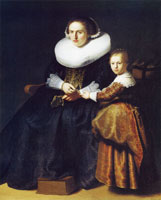 Rembrandt Susanna van Collen, Wife of Jean Pellicorne, with her Daughter Anna