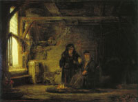 Rembrandt Tobit and Anna with a Goat