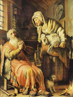 Rembrandt Tobit and Anna with the Kid