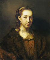 Follower of Rembrandt Portrait of a Woman