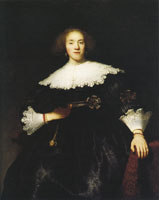 Rembrandt Portrait of a Woman in an Armchair
