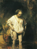 Rembrandt - A Woman Bathing