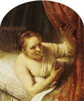 Rembrandt A Woman Waiting in Bed