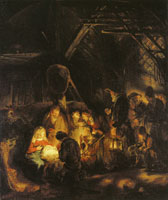 Rembrandt Workshop The Adoration of the Sheperds