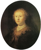 Rembrandt workshop Bust of a Young Woman