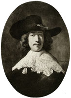 Rembrandt Portrait of a young bachelor