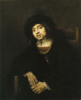 Rembrandt - Portrait of a Young Man in an Armchair