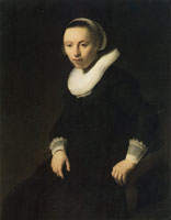 Rembrandt Portrait of a Young Woman Seated