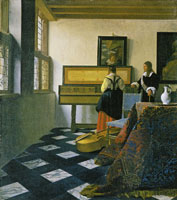 Johannes Vermeer - A Woman at the Virginal with a Man (The Music Lesson)