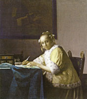 Johannes Vermeer A Woman Writing