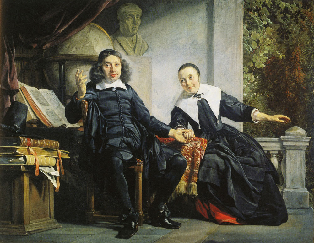 Jan de Bray - Double portrait of Abraham Casteleijn and Margarieta van Bancken