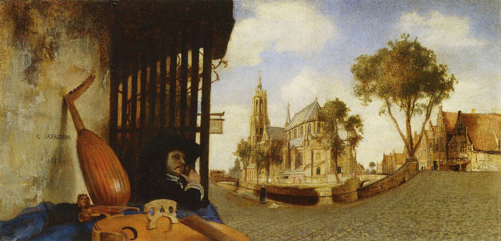 Carel Fabritius - View in Delft