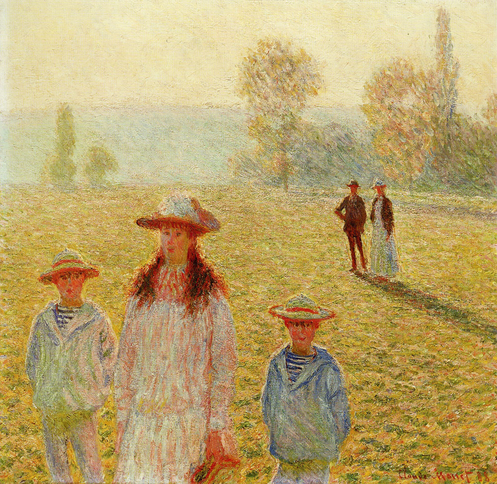 Claude Monet - The Stroll at Giverny