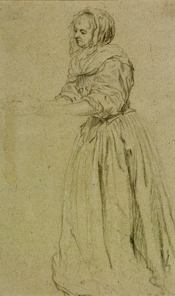 Gabriel Metsu - Sketch of a Female Figure
