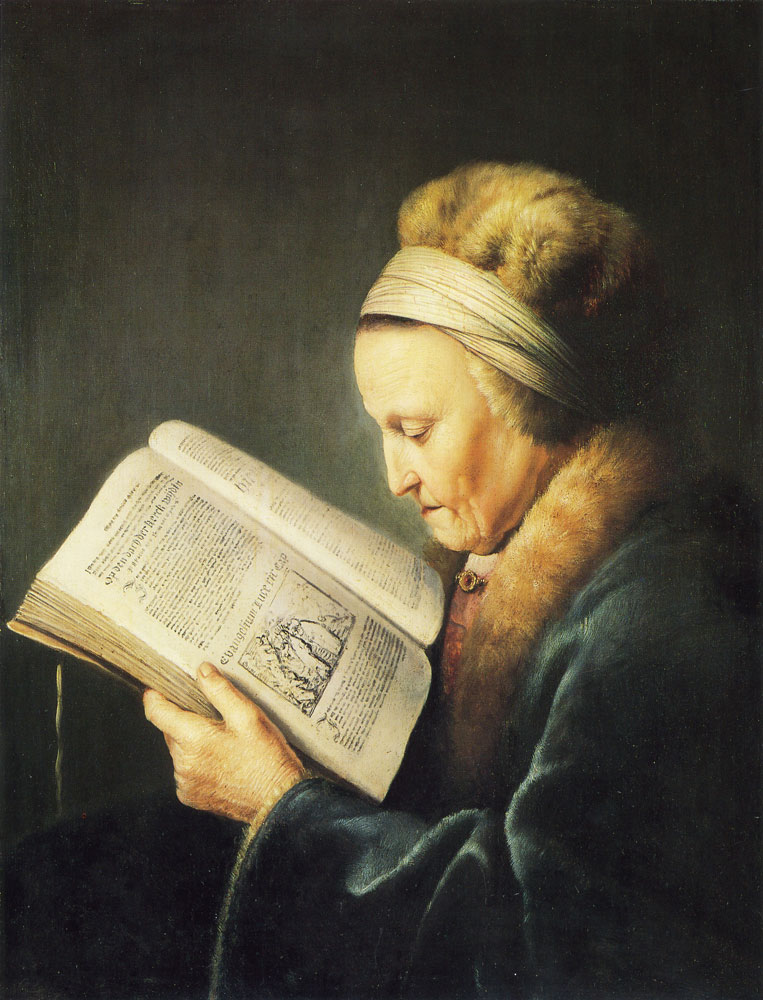 Gerard Dou - Old Woman Reading