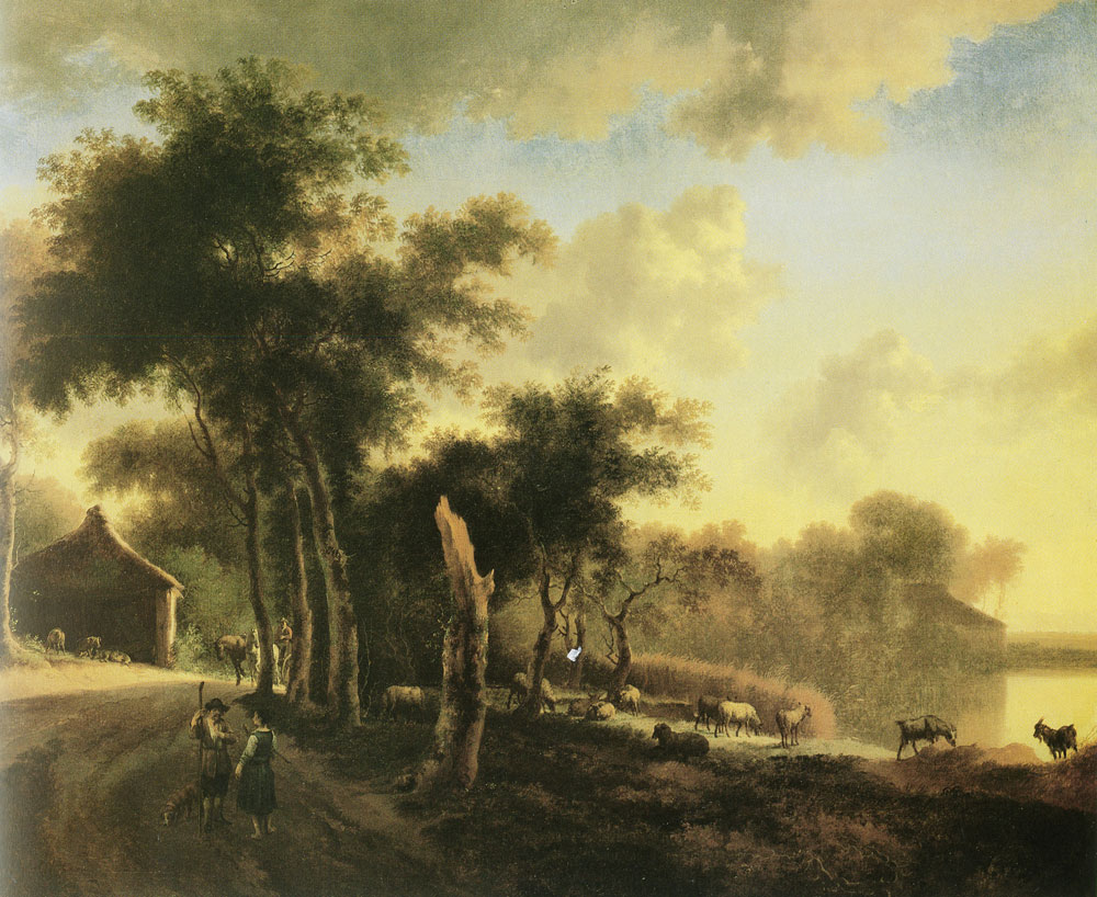Jan Hackaert - Landscape with shepherds