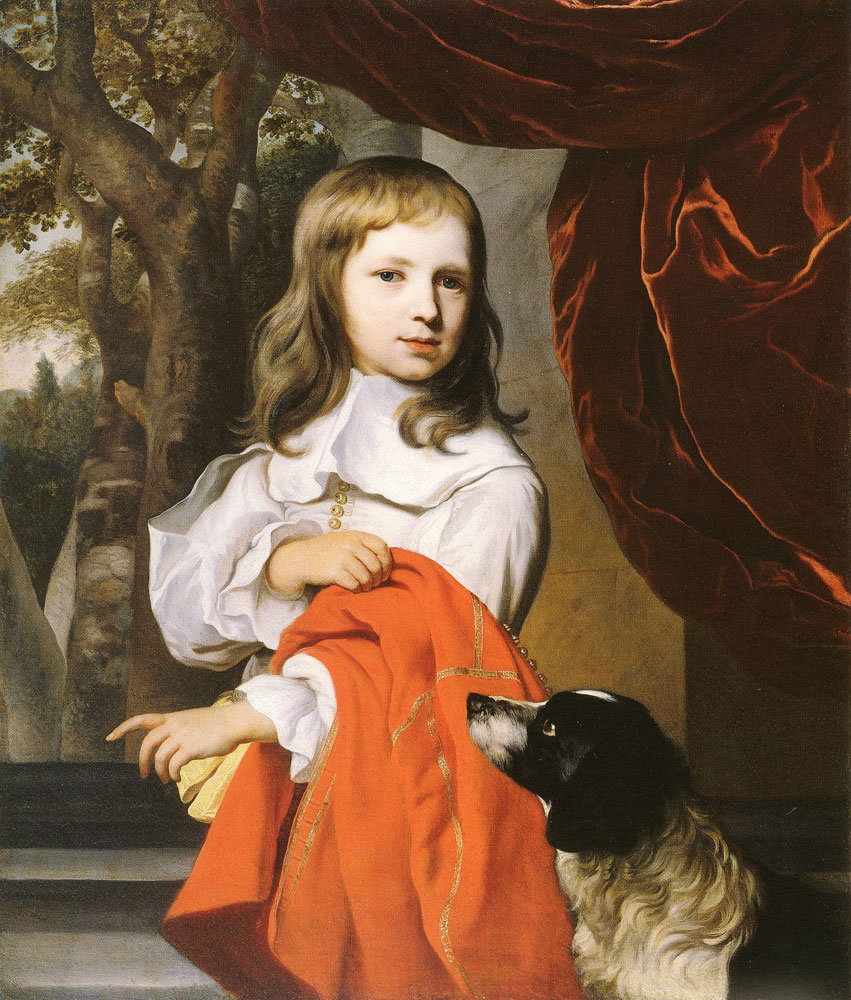 Jacob van Loo - Boy with his dog