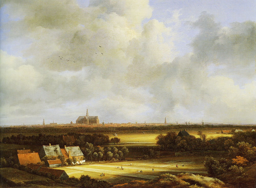 Jacob van Ruisdael - View of Haarlem with Bleaching Grounds