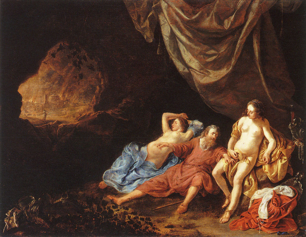 Jacob van Loo - Lot and his daughters