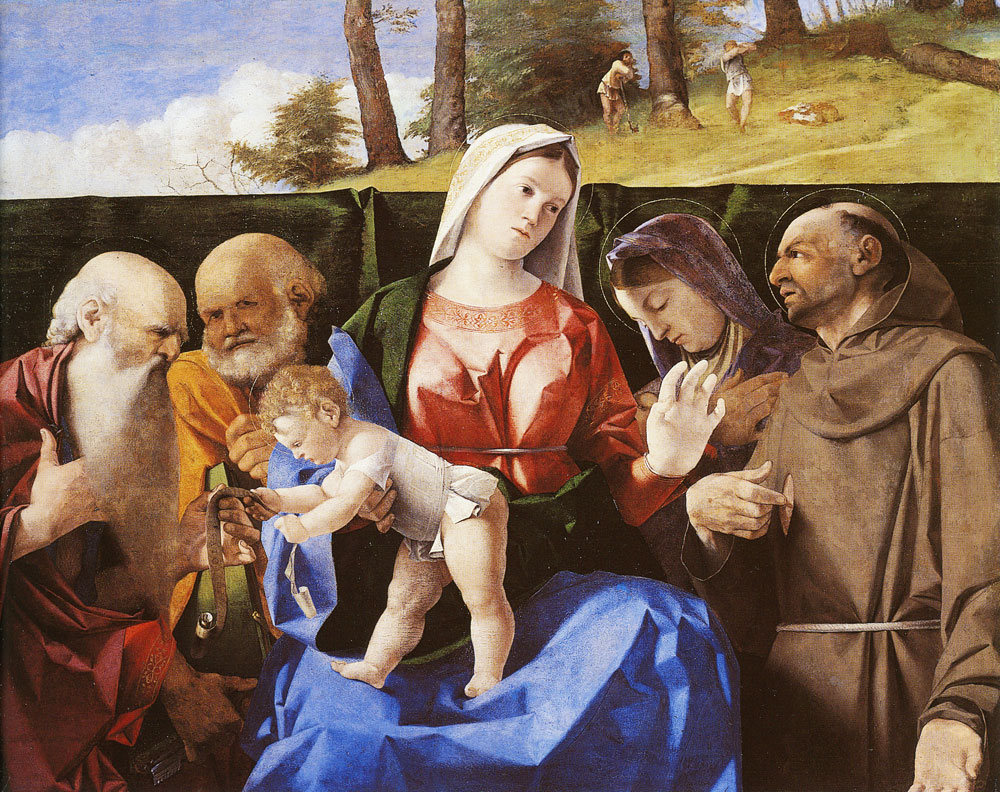 Lorenzo Lotto - The Virgin and Child with Saints Jerome, Peter, Francis and an Unidentified Female Saint
