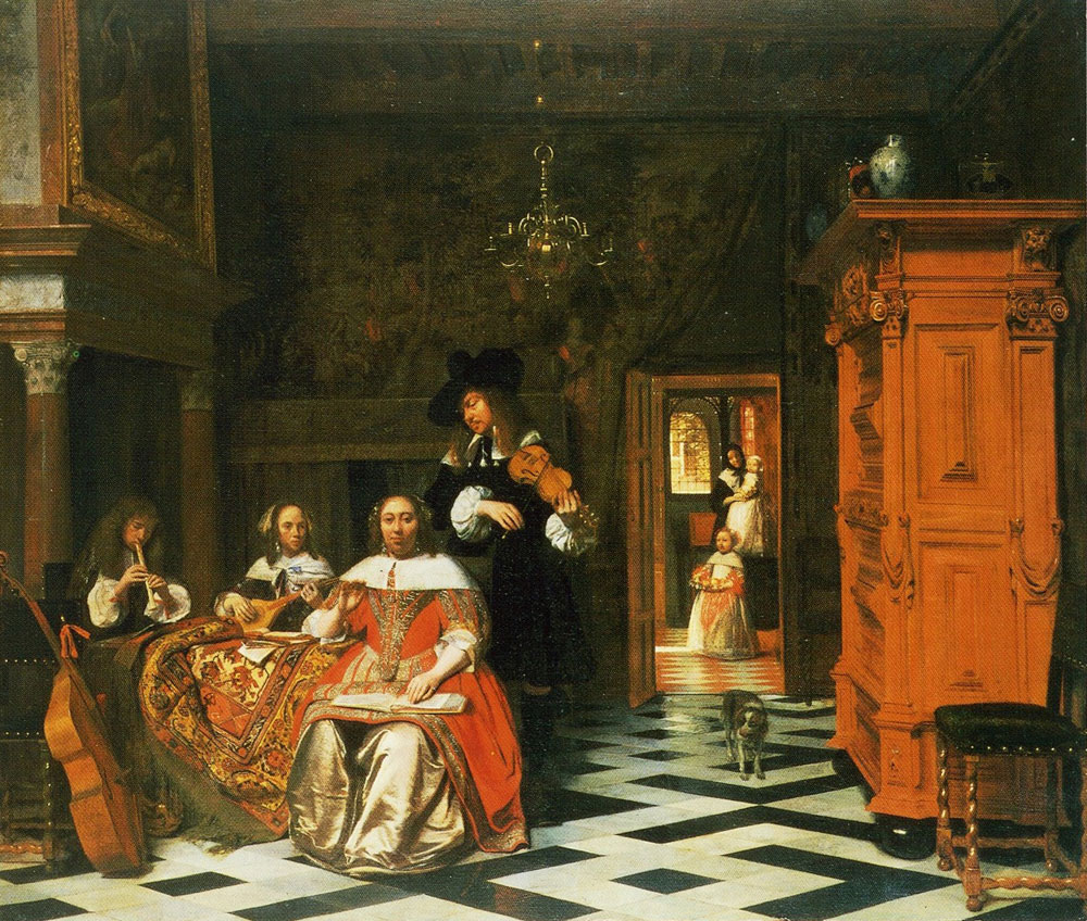 Pieter de Hooch - The Music-making Family