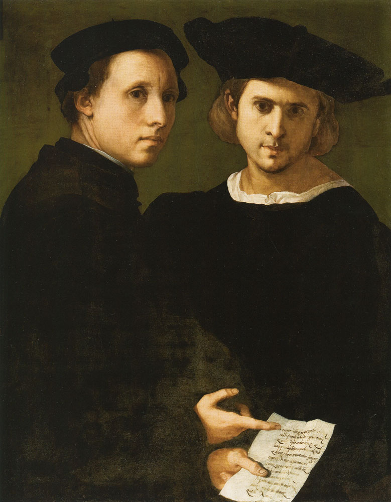 Pontormo - Portrait of Two Friends