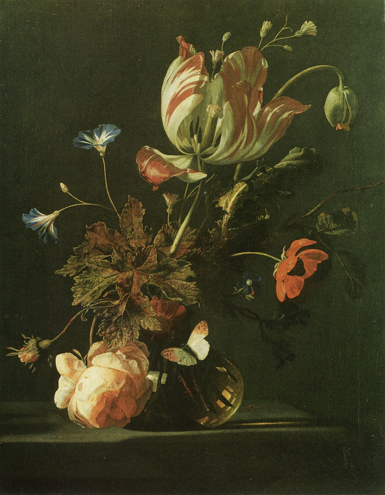 Simon Verelst - Flowers in a vase