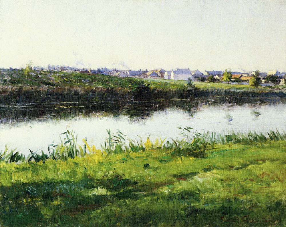 Frederic Porter Vinton - The River Loing at Grez, France