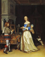 Gerard ter Borch A lady at her toilet