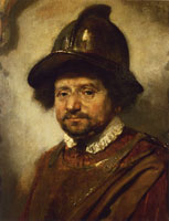 Formerly attributed to Carel Fabritius Man in a Helmet