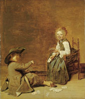 Dirck Hals Children Playing Cards