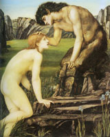 Edward Burne-Jones - Pan and Psyche